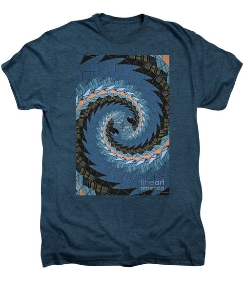 Men's Premium T-Shirt featuring the photograph Wave Mosaic. by Clare Bambers