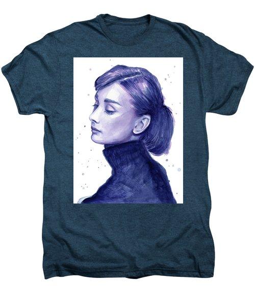 Audrey Hepburn Portrait Men's Premium T-Shirt by Olga Shvartsur