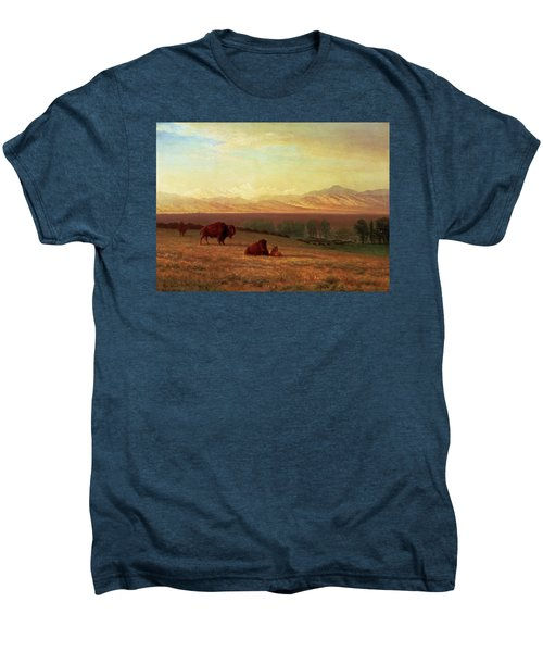 Buffalo On The Plains Men's Premium T-Shirt by MotionAge Designs