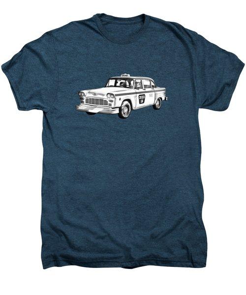 Checkered Taxi Cab Illustrastion Men's Premium T-Shirt