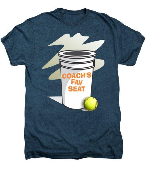 Coach's Favorite Seat Men's Premium T-Shirt by Jerry Watkins