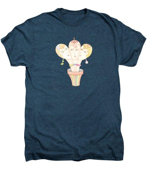 Flower Pot Ladies Men's Premium T-Shirt