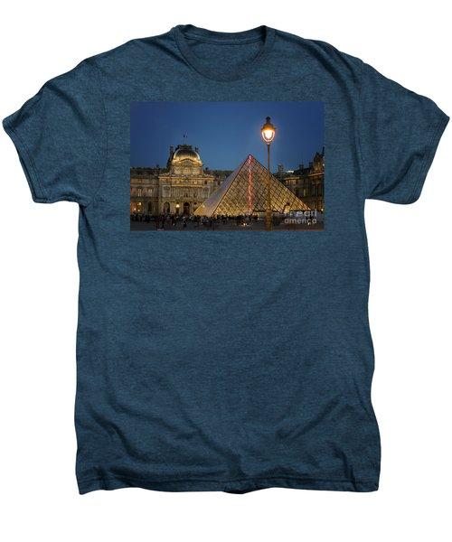 Louvre Museum At Twilight Men's Premium T-Shirt by Juli Scalzi