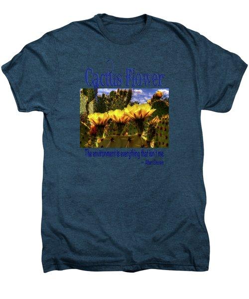 Prickly Pear Cactus Flowers Men's Premium T-Shirt