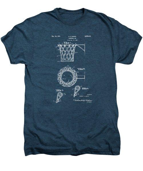 1951 Basketball Net Patent Artwork - Red Men's Premium T-Shirt