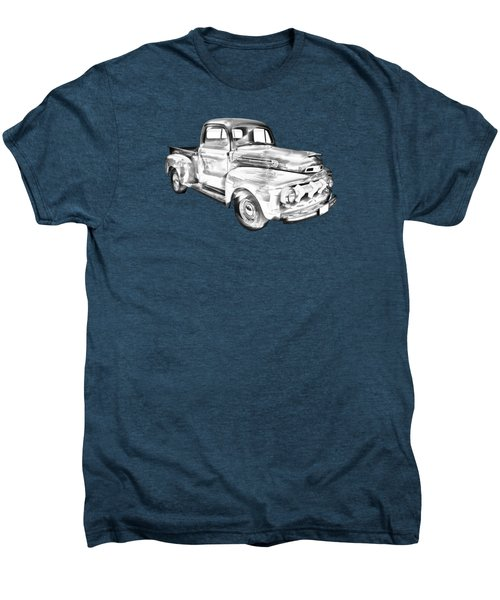 1951 Ford F-1 Pickup Truck Illustration  Men's Premium T-Shirt