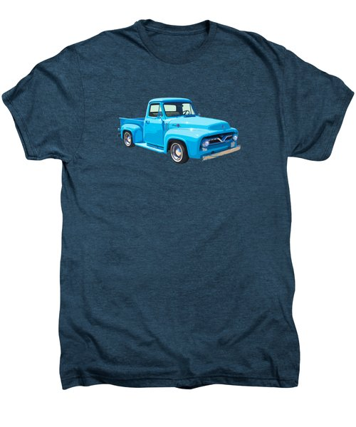 1955 Ford F100 Blue Pickup Truck Canvas Men's Premium T-Shirt by Keith Webber Jr