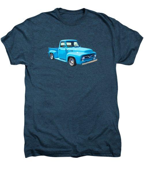 1955 Ford F100 Blue Pickup Truck Canvas Men's Premium T-Shirt
