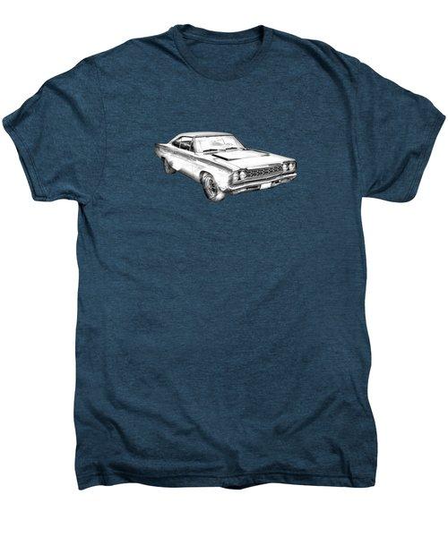 1968 Plymouth Roadrunner Muscle Car Illustration Men's Premium T-Shirt