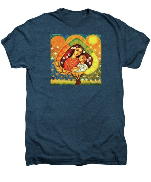Men's Premium T-Shirt featuring the painting Tree Of Life by Eva Campbell