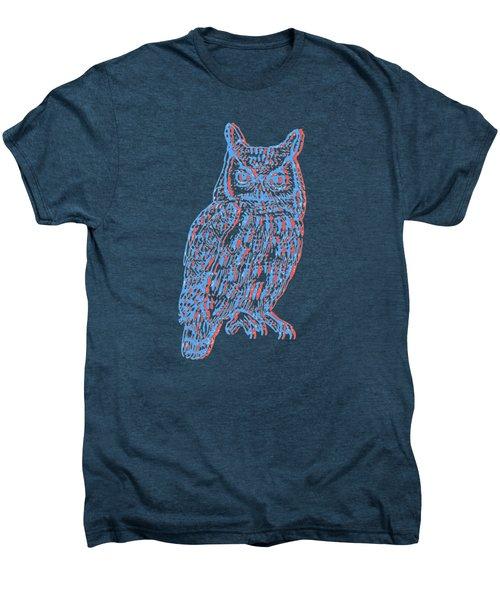 3d Owl Men's Premium T-Shirt by Cold Wash