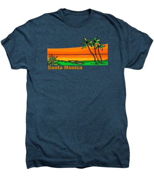 Santa Monica Men's Premium T-Shirt by Brian's T-shirts