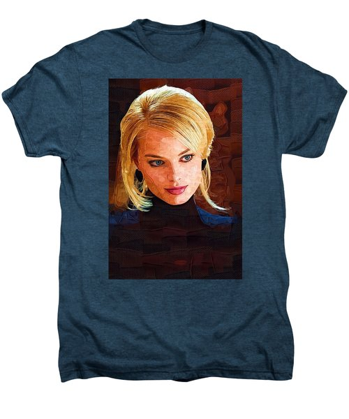 Margot Robbie Painting Men's Premium T-Shirt