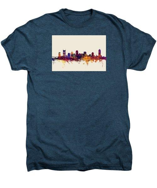 Nashville Tennessee Skyline Men's Premium T-Shirt by Michael Tompsett