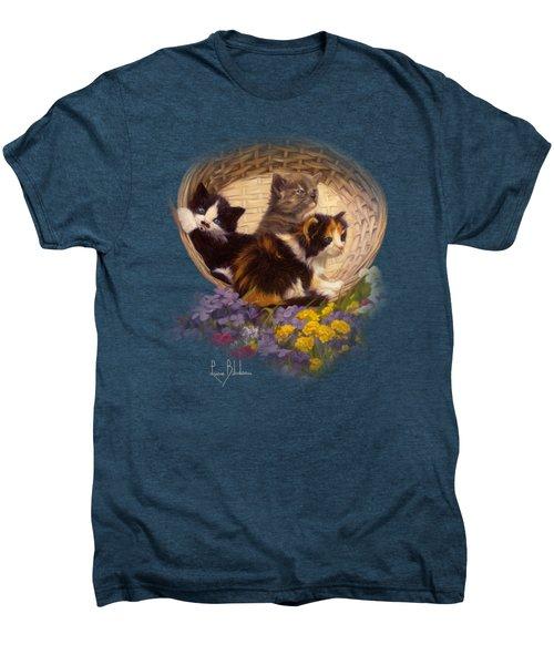A Basket Of Cuteness Men's Premium T-Shirt by Lucie Bilodeau