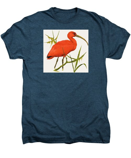 A Scarlet Ibis From South America Men's Premium T-Shirt by Kenneth Lilly