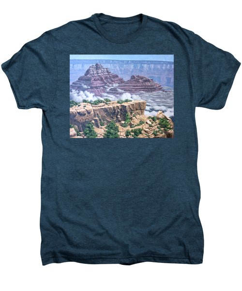 Above The Clouds Grand Canyon Men's Premium T-Shirt by Jim Thomas