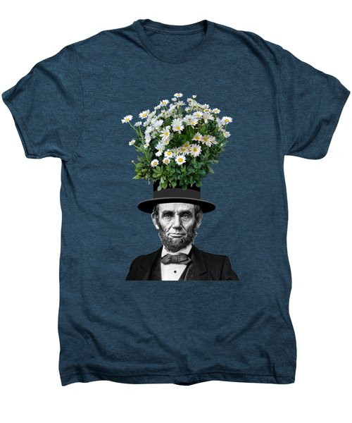 Abraham Lincoln Presidential Daisies Men's Premium T-Shirt by Garaga Designs