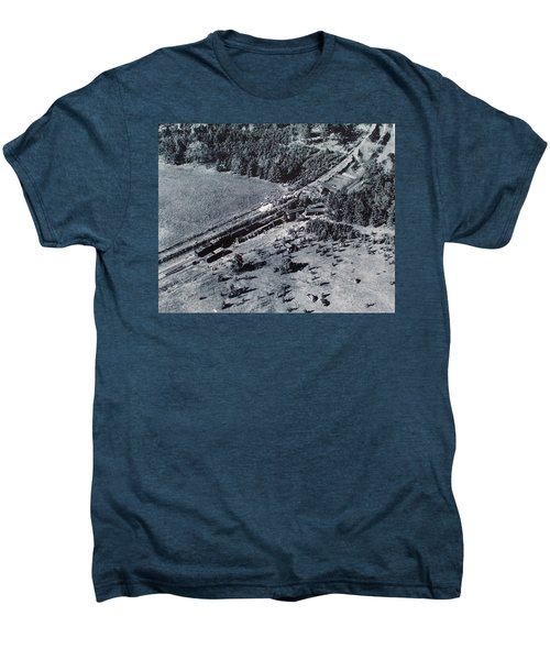 Aerial Train Wreck Men's Premium T-Shirt
