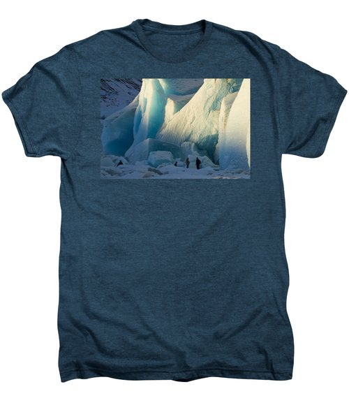 Alaskan Glacier Last Rays Of Light Men's Premium T-Shirt by Yulia Kazansky