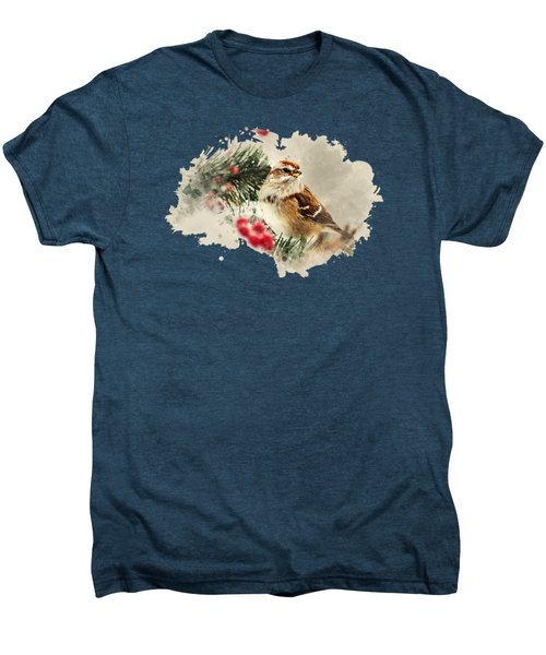 American Tree Sparrow Watercolor Art Men's Premium T-Shirt by Christina Rollo