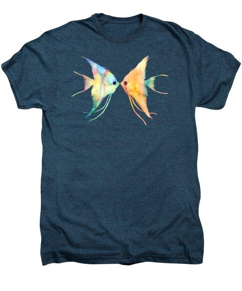 Angelfish Kissing Men's Premium T-Shirt by Hailey E Herrera
