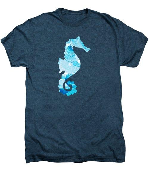 Aqua Abstract Painting Men's Premium T-Shirt by Christina Rollo