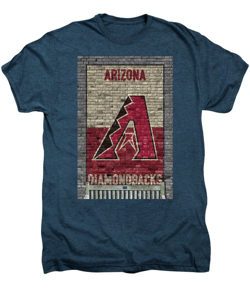 Arizona Diamondbacks Brick Wall Men's Premium T-Shirt by Joe Hamilton