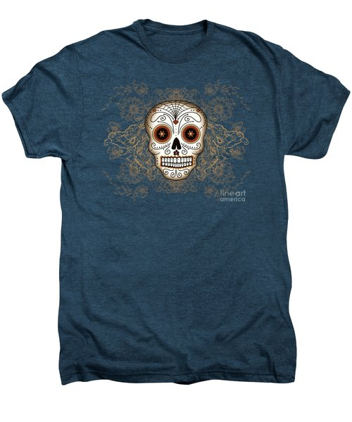 Vintage Sugar Skull Men's Premium T-Shirt by Tammy Wetzel