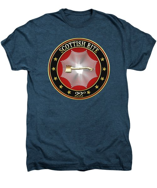 22nd Degree - Knight Of The Royal Axe Jewel On Red Leather Men's Premium T-Shirt by Serge Averbukh