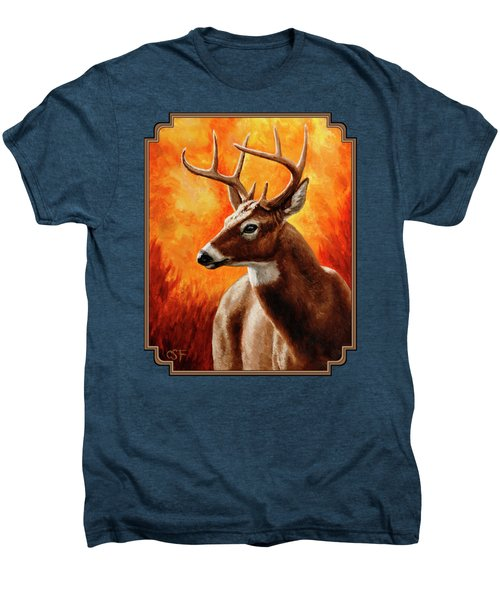 Whitetail Buck Portrait Men's Premium T-Shirt