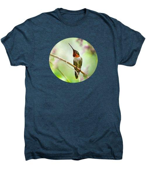 Hummingbird Looking For Love Men's Premium T-Shirt by Christina Rollo