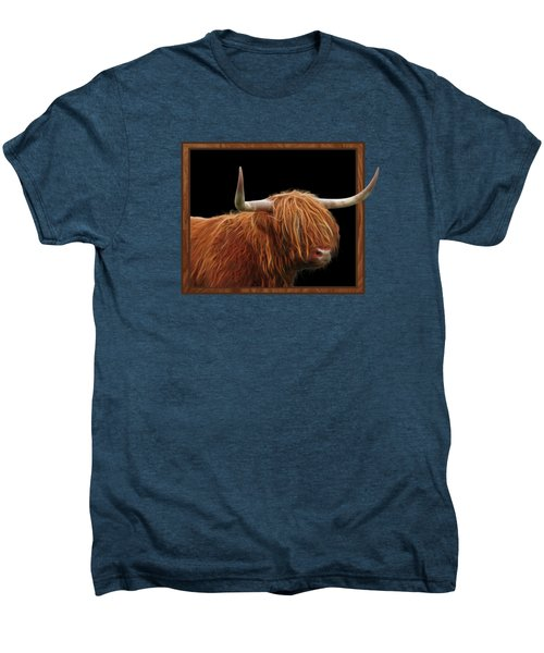 Bad Hair Day - Highland Cow Square Men's Premium T-Shirt