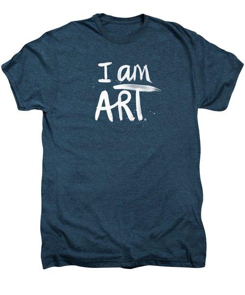 I Am Art- Painted Men's Premium T-Shirt by Linda Woods