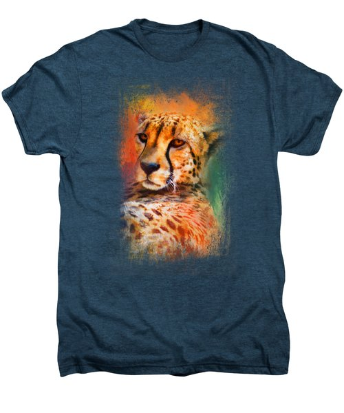 Colorful Expressions Cheetah Men's Premium T-Shirt by Jai Johnson