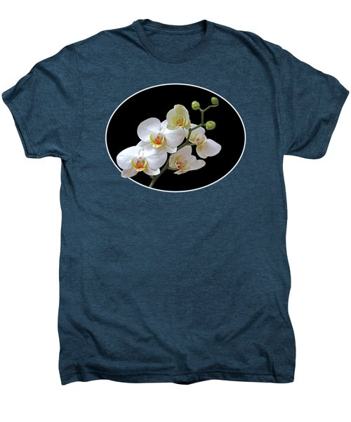Orchids On Black And Red Men's Premium T-Shirt
