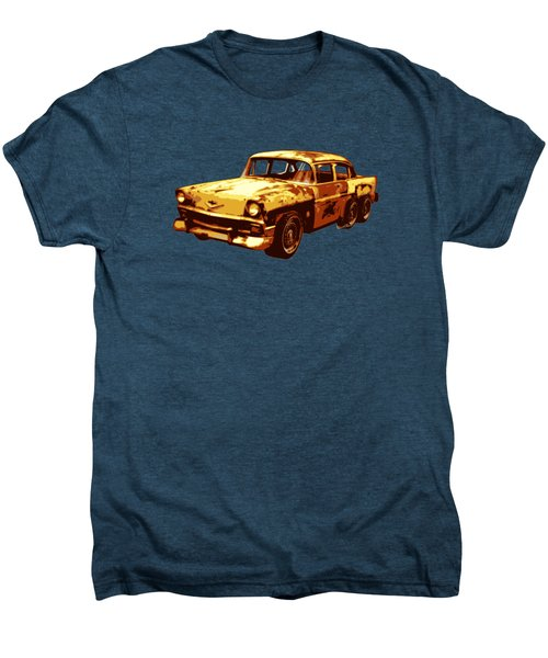 Roadrunner The Snake And The 56 Chevy Rat Rod Men's Premium T-Shirt by Chas Sinklier
