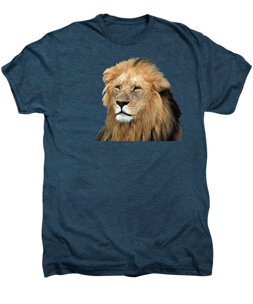Masai Mara Lion Portrait    Men's Premium T-Shirt by Aidan Moran
