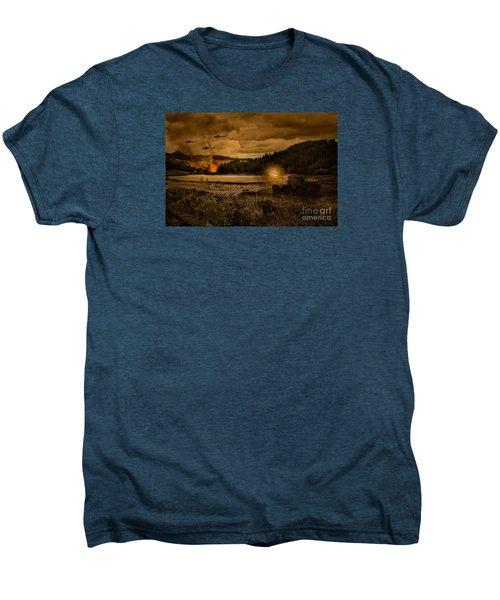 Attack At Nightfall Men's Premium T-Shirt by Amanda Elwell