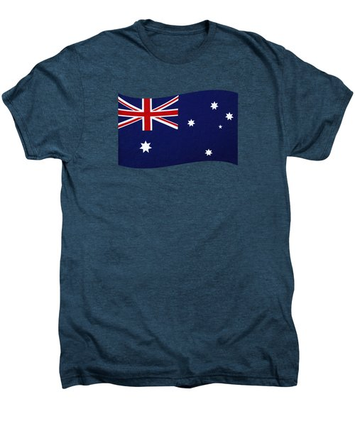 Australian Flag Waving Png By Kaye Menner Men's Premium T-Shirt