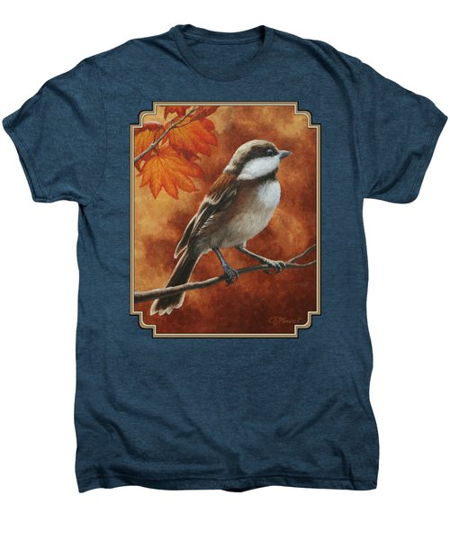 Autumn Chickadee Men's Premium T-Shirt