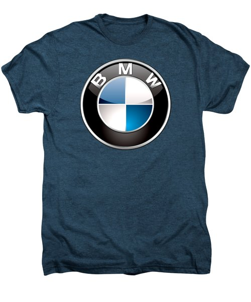 B M W Badge On Red  Men's Premium T-Shirt