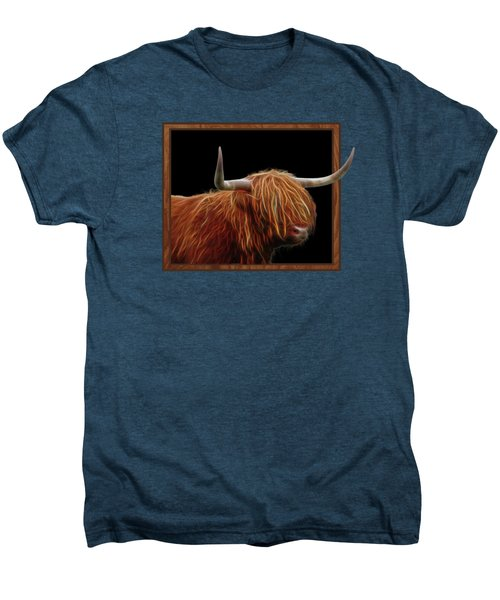 Bad Hair Day - Highland Cow - On Black Men's Premium T-Shirt
