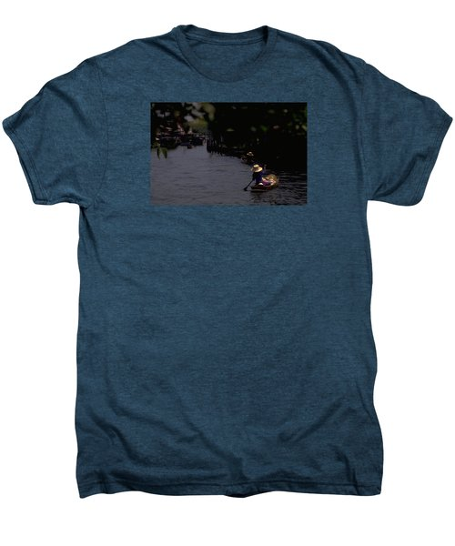 Bangkok Floating Market Men's Premium T-Shirt by Travel Pics