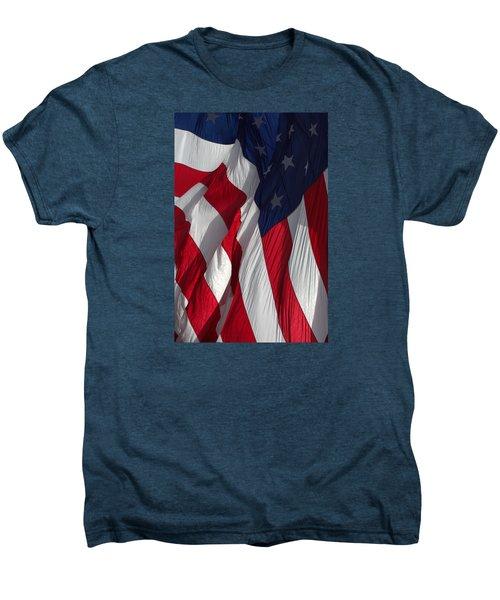Battle Flag Flies Aboard Uss Cape St. George Men's Premium T-Shirt