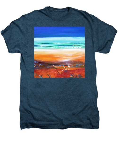 Men's Premium T-Shirt featuring the painting Beach Joy by Winsome Gunning