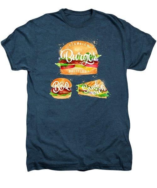 Black Burger Men's Premium T-Shirt by Aloke Creative Store