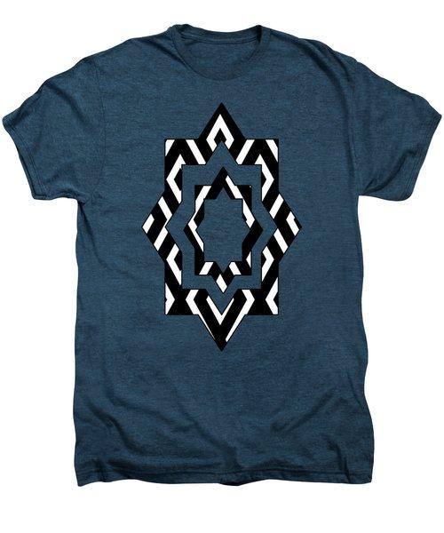 Black And White Pattern Men's Premium T-Shirt