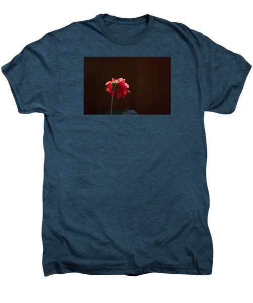 Black With Rose Men's Premium T-Shirt by Lora Lee Chapman