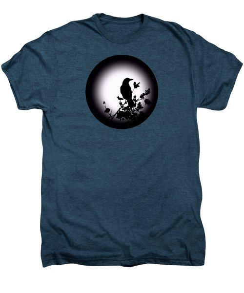 Blackbird In Silhouette  Men's Premium T-Shirt by David Dehner